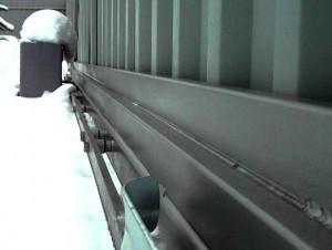 Откатные ворота не боятся зимы